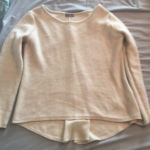 Cream colored sweater, zippered back